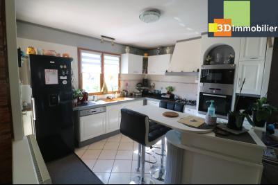 CHAUSSIN (campagne) vends agréable maison de plein-pied, 6 pièces, 118m² sur 2500m² de terrain clos, cuisine équipée ouverte