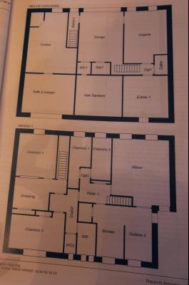 A VENDRE proche COUSANCE-39190, MAISON  de 240 m² env. 2 LOGEMENTS sur terrain de 1 000 m² env., Plan des niveaux 0 et 1