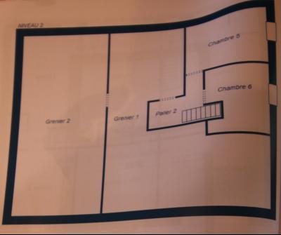 A VENDRE proche COUSANCE-39190, MAISON  de 240 m² env. 2 LOGEMENTS sur terrain de 1 000 m² env., Plan du niveau 2