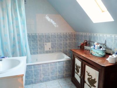 Proche BLETTERANS Jura Vends MAISON (2004) 137m²env. -4 chambres (1 plain-pied)- sur 1250m²env., Salle de bains étage avec baignoire