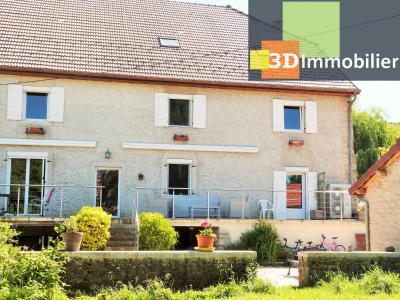 LONS-LE-SAUNIER 39000 JURA à 10 mn Vends MAISON 355 m²env.- 6 chambres, terrasse, jardin, 2 garages., SALON