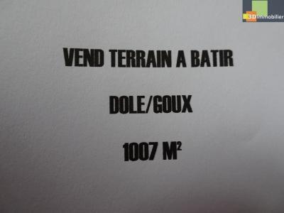 DOLE, Goux, 39100 terrain à batir de 1007 m² plat, hors lotissement, bord de la forêt,