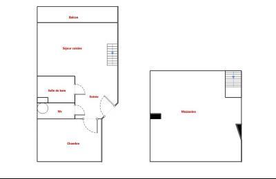Théoule sur Mer (06 Alpes Maritimes), appartement vue mer en duplex, dernier étage avec terrasse, plan