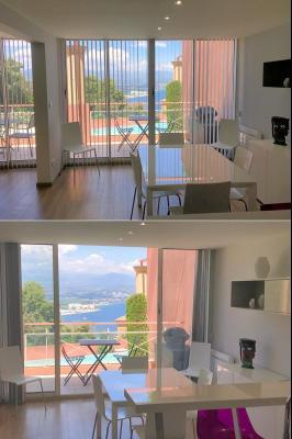 Théoule sur Mer (06), à vendre appartement contemporain, avec vue mer, terrasse, parking, cave, salle à manger