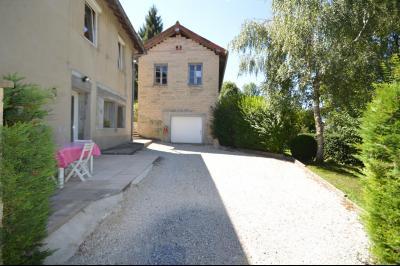 Proche Clairvaux les lacs, maison 85 m² en bon état avec 3 chambres et un garage/atelier., Atelier transformable en gîte