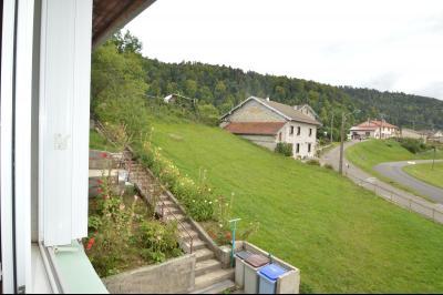 ETIVAL, entre Clairvaux les lacs et Haut Jura, maison actuellement 2 gîtes sur un ancien atelier., Vue de la maison