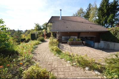 Jura, Région des lacs. Un beau Chalet 175 m², avec une superbe vue, un spa et chalet locatif 35 m²., la maison coté ouest