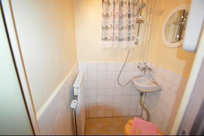 Clairvaux les lacs à 2 min, maison 102 m² habitables avec 3 chambres et terrain clos de 440 m²., Toilette et coin douche étage