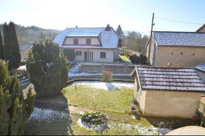 Clairvaux les lacs à 2 min, maison 102 m² habitables avec 3 chambres et terrain clos de 440 m²., vue de la chambre, arrière de la maison