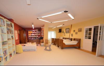 Clairvaux les lacs (Jura), à vendre Ferme ancienne 400 m² rénovée, très belles prestations., Bibliothèque, salle de jeux 80 m²