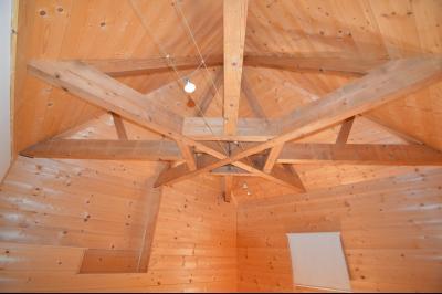 Jura, Proche Lac de Vouglans, à vendre Belle propriété rénovée 8 chambres sur 2,5 ha avec écuries., charpente de la tour