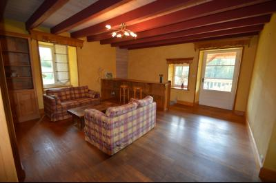 Jura, Proche Lac de Vouglans, à vendre Belle propriété rénovée 8 chambres sur 2,5 ha avec écuries., Salon bibliothèque accès balcon