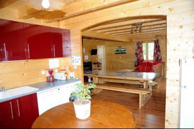 Clairvaux-les-Lacs (Jura) à vendre beaux chalets en madrier Gîtes (2 ogements indépendants)., Cuisine ouverte