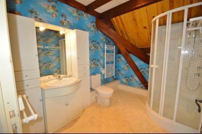 Clairvaux les lacs (JURA) vends Maison rénovée avec vue exceptionnelle sur lacs et relief jurassien., salle d