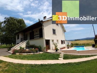 LONS-LE-SAUNIER (39 JURA), à vendre maison individuelle 136 m², piscine, four à pain, parc 5344 m², SALLE D