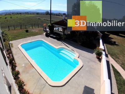 LONS-LE-SAUNIER (39 JURA), à vendre maison individuelle 136 m², piscine, four à pain, parc 5344 m², HALL D