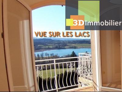 Clairvaux les lacs (39 JURA), à vendre maison rénovée 340 m², parc de 2700 m² avec vue sur le lac, Etage pour chambre d