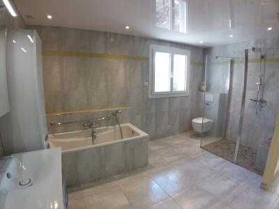 Clairvaux les lacs (39 JURA), à vendre maison rénovée 340 m², parc de 2700 m² avec vue sur le lac, Salle de bain-douche Aubade