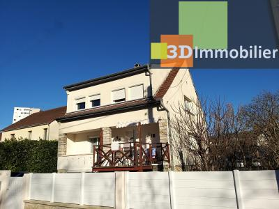 LONS-LE-SAUNIER (39 JURA), CENTRE-VILLE à vendre maison individuelle rénovée 110m², 6 pièces, jardin, MAISON