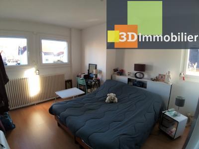 LONS-LE-SAUNIER (39 JURA), CENTRE-VILLE à vendre maison individuelle rénovée 110m², 6 pièces, jardin, CHAMBRE 2