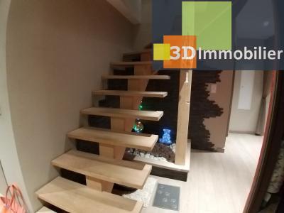 LONS-LE-SAUNIER (39 JURA) centre-ville, à vendre appartement duplex rénové 200 m², 4 chambres calme, ESCALIER