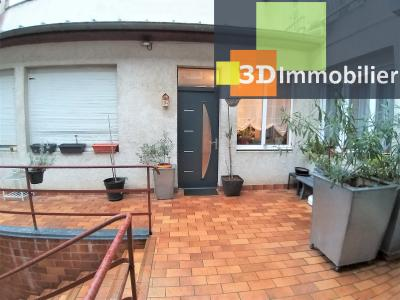 LONS-LE-SAUNIER (39 JURA) centre-ville, à vendre appartement duplex rénové 200 m², 4 chambres calme, TERRASSE