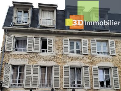 LONS-LE-SAUNIER (39 JURA) centre-ville, à vendre appartement duplex rénové 200 m², 4 chambres calme, FACADE