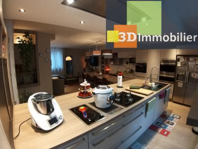 LONS-LE-SAUNIER (39 JURA) centre-ville, à vendre appartement duplex rénové 200 m², 4 chambres calme, CUISINE EQUIPEE