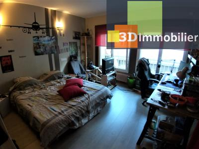 LONS-LE-SAUNIER (39 JURA) centre-ville, à vendre appartement duplex rénové 200 m², 4 chambres calme, CHAMBRE 4