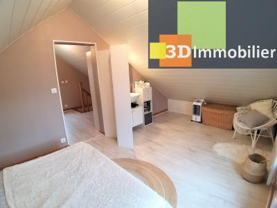 Secteur GEVINGEY (JURA), à vendre maison de 45 m², 1 CH, idéal location touristique, investisseurs., CHAMBRE
