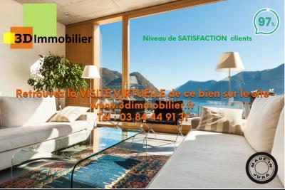 LONS-LE-SAUNIER (39 JURA), à vendre maison plain-pied, ossature bois, 3 chambres, terrain 1126 m²., visite virtuelle sur www.3dimmobilier.fr