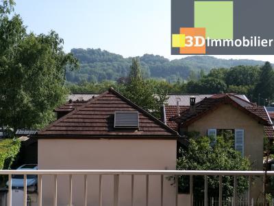 LONS-LE-SAUNIER (39 JURA), à vendre appartement centre avec terrasse, 3 chambres, 87 m² avec parking, VUE SEJOUR