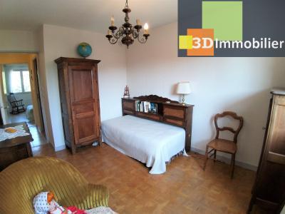 LONS-LE-SAUNIER (39 JURA), à vendre appartement centre avec terrasse, 3 chambres, 87 m² avec parking, CHAMBRE 3