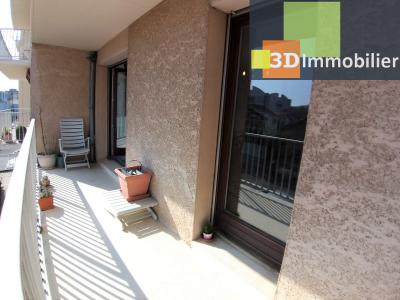 LONS-LE-SAUNIER (39 JURA), à vendre appartement centre avec terrasse, 3 chambres, 87 m² avec parking, TERRASSE