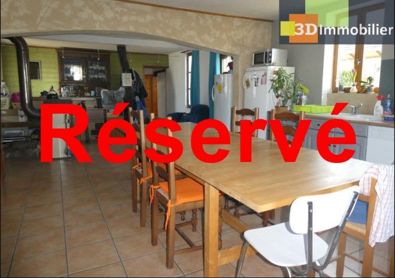 Chaussin (39 - Jura) à Vendre maison sur deux niveaux, 4 chambres, terrain de 600 m².