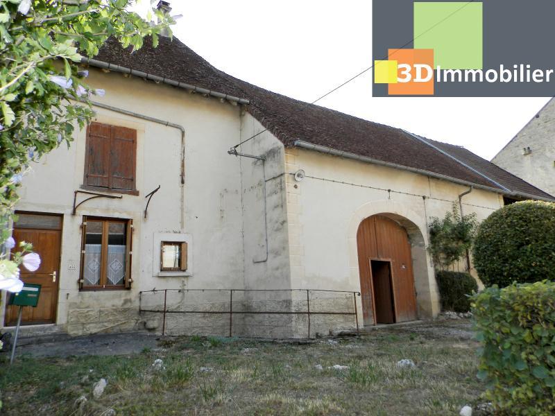 LONS LE SAUNIER nord (39), à vendre maison en pierre à rénover 79 m², dépendances, terrain 586 m²