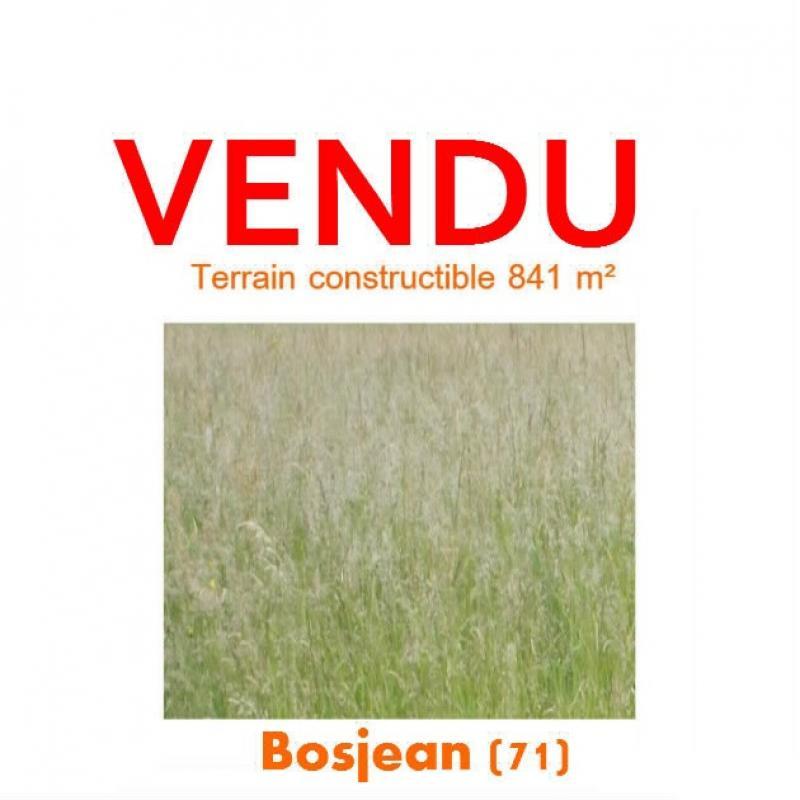 Vente SAINT GERMAIN DU BOIS, terrain constructible 841 m� au calme, viabilit�s en bordure