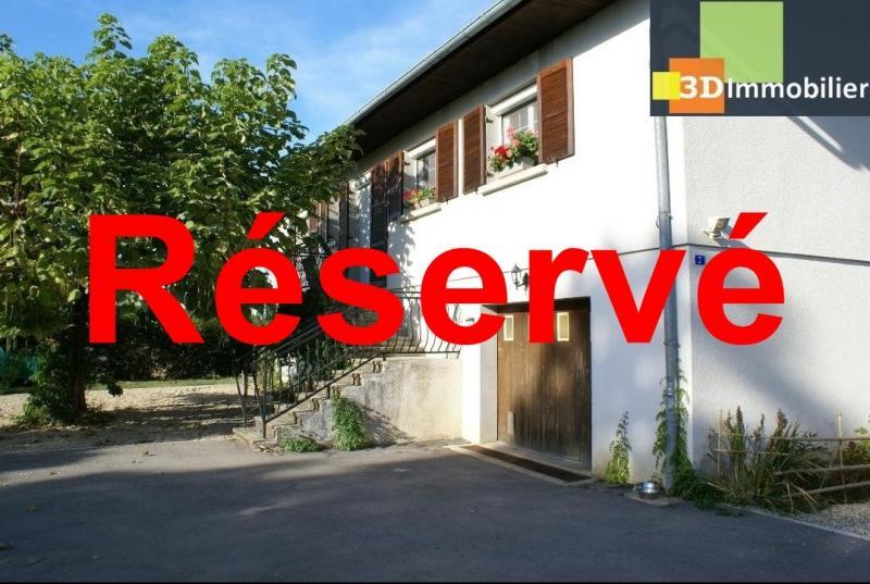 Chaussin vends confortable maison de 6 pièces, 150m², sous-sol total sur 3300 m² de terrain.