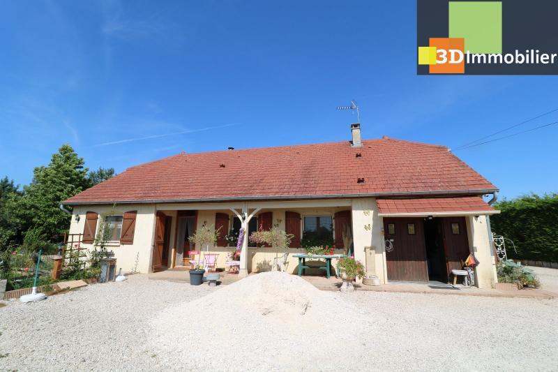 CHAUSSIN (campagne) vends agréable maison de plein-pied, 6 pièces, 118m² sur 2500m² de terrain clos