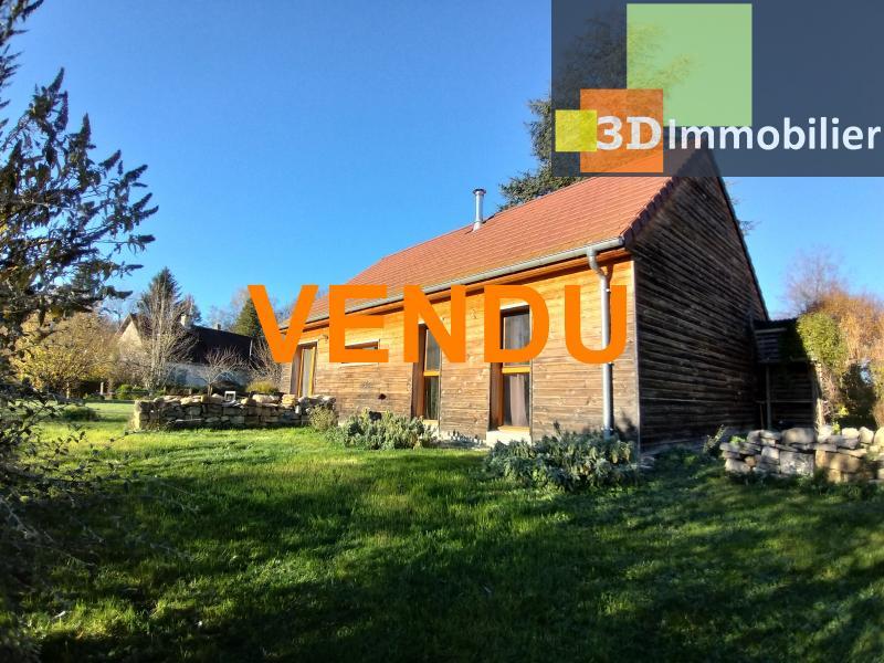 LONS-LE-SAUNIER (39 JURA), à vendre maison plain-pied, ossature bois, 3 chambres, terrain 1126 m².